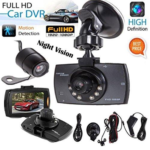 Lookatool 1080P 2.7'HD LCD Dual Lens Car Dash Camera Video DVR Cam Recorder Night Vision (Car Camera Recorder Battery 1080 compare prices)