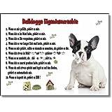 Französische Bulldogge Eigentumsrechte - Witziges Schild aus Aluminium 15x20cm (07)