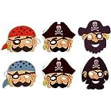 Pirate Foam Mask - Pack of 6
