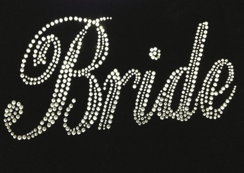 Bride Bridal Wedding Marriage Rhinestone Transfer Iron on Motif Hot Fix Bling Applique - DIY (Rhinestone Applique Iron On compare prices)