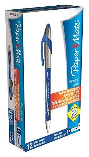 papermate-flexgrip-elite-druck-kugelschreiber-14-mm-schreibspitze-10-mm-strichstarke-12-stuck-blau