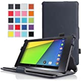 MoKo Google New Nexus 7 FHD 2nd Gen Case - Slim-Fit Multi-angle Stand Cover Case for Google Nexus 2 7.0 Inch 2013 Generation Android 4.3 Tablet, INDIGO (With Smart Cover Auto Wake / Sleep Feature)