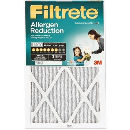 Filtrete Allergen Reduction 1200 Filtration Level 14x30x1 (Filtrete 1200 16x25x1 compare prices)