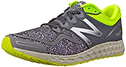 New Balance Men\'s M1980V1 Fresh Foam Zante Running Shoe, Grey/Yellow, 10 D US