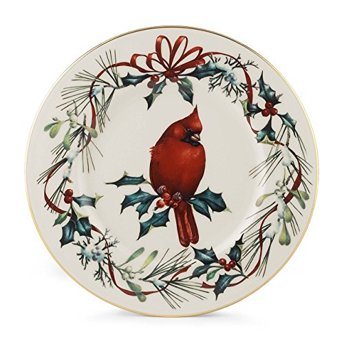 Lenox Winter Greetings 9-Inch Cardinal Accent Plate