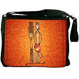 """Snoogg Banjo Man Padded Compartment Carrying Case Sleeve Laptop Notebook Shoulder Messenger Bag For All 15 - 15.6"""" Inch Laptops"""