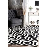nuLOOM MTHM04A Hand Tufted Honeycomb Mayra Rug, 4 x 6, Black