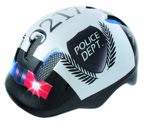 Buy Low Price Ventura Police Children's Cycle Helmet (White/ Black, Youth 50-57cm) (B007Y5FJE6)