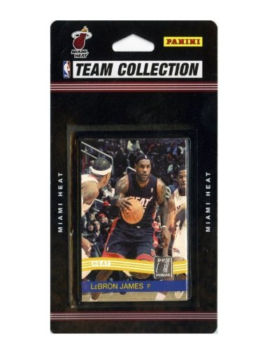 2010 2011 Miami Heat Donruss Basketball Factory Sealed 10 Card Team Set Including Lebron James Dwyane Wade Chris Bosh Mike Miller Mario Chalmers Udonis Haslem Juwan Howard Carlos Arroyo and Dexter Pittman