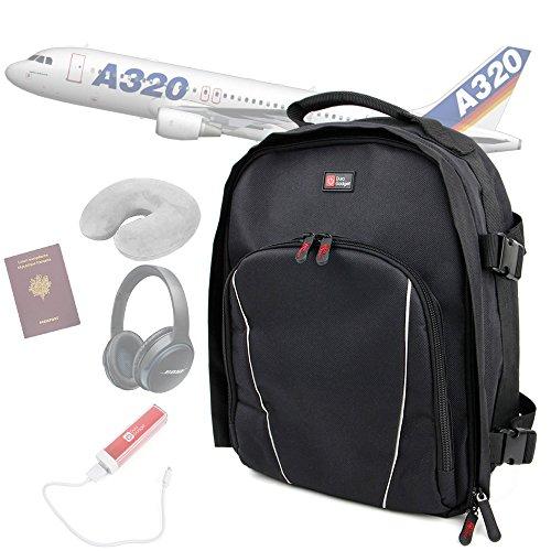 duragadget-sac-a-dos-noir-bagage-a-main-en-cabine-pour-voyage-en-avion-poignee-et-lanieres-rembourre