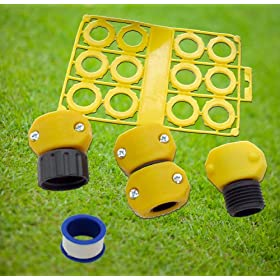 Garden Hose Eco- Kit, hose repair & conserve, Hose Washers, Replacement hose parts, fix leaky hose, Outdoor Water Saving