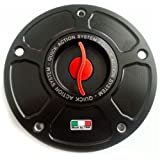 TWM Quick Action CNC Billet Fuel Gas Cap with Red Handle fits Ducati ST2 ST3 ST4 748 916 996 998 848 1098 1198 MONSTER