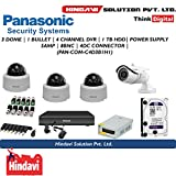 Panasonic Hl1104K 4Ch DVR, 3(HFN103L) Dome Camera, 1(HPN103L) Bullet Camera (With 1 TB HDD,Power Supply,Connectors)