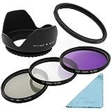 Filtres UV CPL FLD 58mm + parasoleil + Adaptateur pour Canon SX50 HS SX40 IS lf297