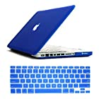Dealgadgets Frosted Matte Surface Crystal Hard Shell Case for MacBook Pro 13.3-inch A1278 Aluminum Unibody with Silicone Keyboard Cover Skin Stickers Protector Blue (NOT compatible with: MacBook 13.3 inch with retina display)