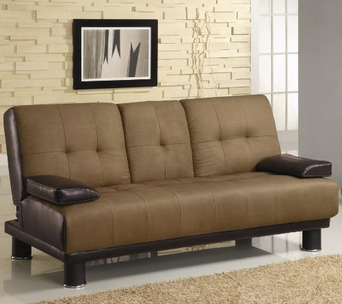 brown-microfiber-vinyl-leather-finish-sofa-bed-by-coaster-300134