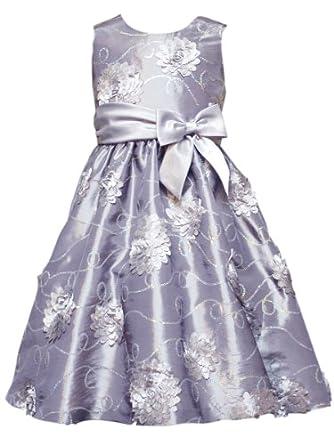 Silver Dress on Com  Rare Editions Girls 2 6x Soutach Dress  Silver  3t  Clothing