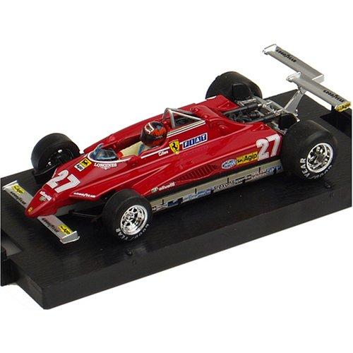 brumm 1/43スケール フェラーリ 126C2 1982 アメリカ西GP G.ヴィルヌーヴ ドライバー・フィギュア付