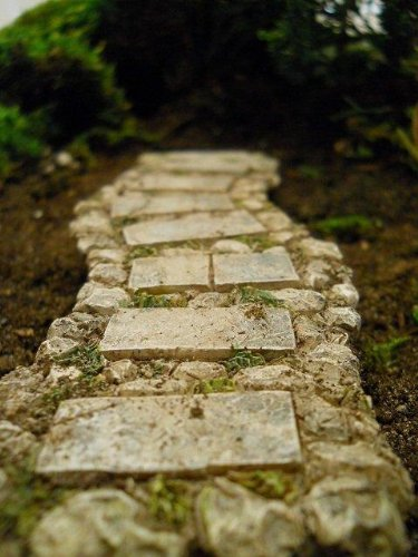 "Miniature / Fairy Garden ""Resin Faux Stone Walkway/Path"""