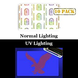 10 x Adhesive Holographic Overlay for Standard Size ID Cards | Secure Key Hole Design with UV Eagle