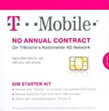 T-Mobile Nano SIM Card for any Unlocked GSM Phone (No Annual Contract)