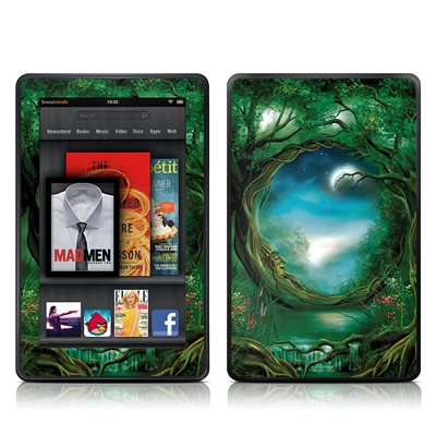 Amazon Kindle Fire Skin = ( Vinyl decal ) - Moon Tree