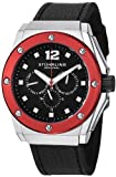 Stuhrling Original Mens 469.33TT1 Special Reserve Apocalypse Midnight Quartz Multi-Function Black Leather Strap Watch