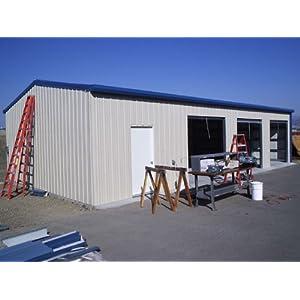 Duro steel 30x30x16 metal building kit residential garage auto lift
