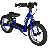 BIKESTAR® Premium Kids Safety Balance Bike for brave explorers aged from 3 years ★ 12s Classic Edition ★ Adventurous Blue
