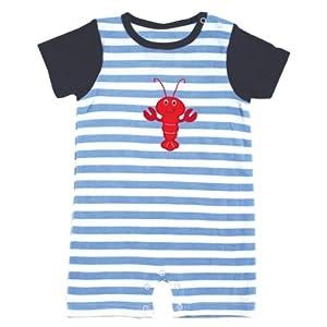 Hudson Baby Striped Lobster Romper