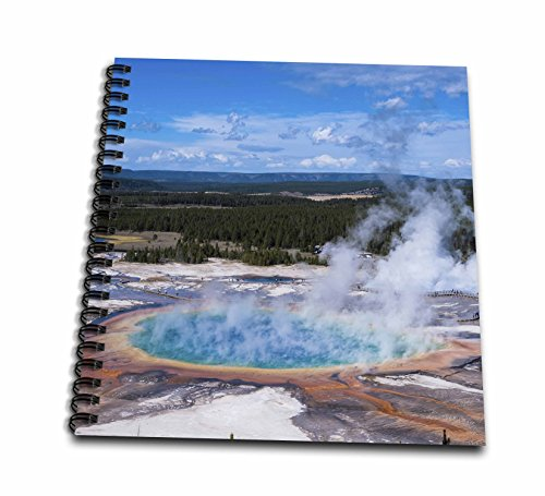 "3dRose db_206794_1 Grand Prismatic Geyser, Midway Geyser Basin, Yellowstone NP, Wyoming Drawing Book, 8 by 8"" - 1"