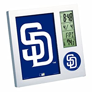 MLB San Diego Padres Digital Desk Clock by WinCraft