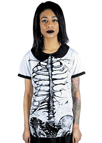 Fearless Illustration -  T-shirt - Collo a U  - Maniche corte  - Donna Bianco bianco