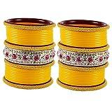 vidhya kangan antiqe bangles Color Yellow Size-2.8