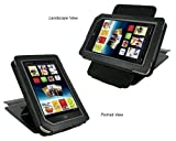 rooCASE (Black) Leather Case Cover with 22 Angle Adjustable Stand for Barnes and Noble NOOK Tablet / NOOKcolor Nook Color eBook Reader - MV Series