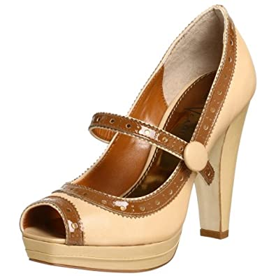 Vince Camuto Women's Trish Pump,Sand/Brown Sugar,5.5 M
