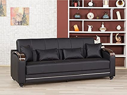 Divamax Sofa Bed | Zen Black Leatherette