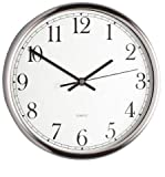 Kitchen Craft Clock, Stainless Steel, 25cm