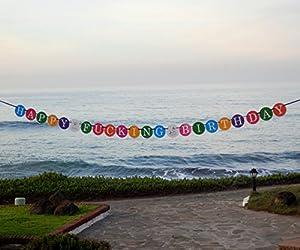 Happy F***ING Birthday - Funny Birthday Banner - 21st Birthday Banner - 30th Birthday from Sterling James Company