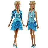 Fashion Evening Princess Party Clothes Wears Dress Outfit For Barbie Doll Gift Xmas Gift