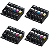 ***FREE POST**** 20PK High Capacity inks for Canon PIXMA iP7250,Mg5650, iP8750, iX6850, MG5450, MG5550, MG6350, MG6450, MG7150, MX725, MG7550, MX925 Colour Inkjet Printer compatible ink cartridges latest Chip
