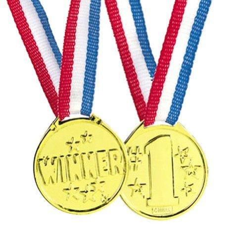 fun-express-gold-tone-winner-award-medals-12-pieces