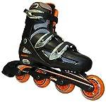 ローラーブレード一般用 ワンタッチサイズ調整式 インラインスケート オレンジ