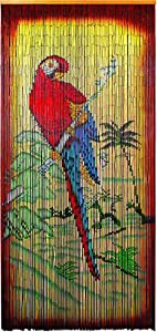 Asli Arts Model  Parrot Painted Bamboo Curtain (Discontinued by Manufacturer)