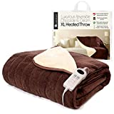 Homefront Luxury XL Family Size Reversible Electric Heated Chocolate/Cream Throw (130 x 200cm)