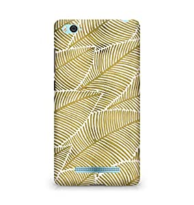Amez designer printed 3d premium high quality back case cover for Xiaomi Mi4i (Tropical gold prints)