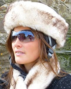 Faux Fur Ski Helmet Band Husky