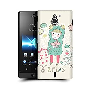 MobileGlaze Designs Cute Zodic Signs Aries Hard Back Case Cover for SONY XPERIA SOLA MT27