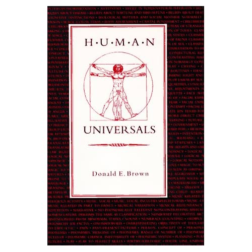 Human Universals: Donald Brown: 9780070082090: Amazon.com: Books