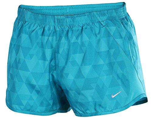 Nike Women's Printed 5K Tempo Running Shorts-Green-Small